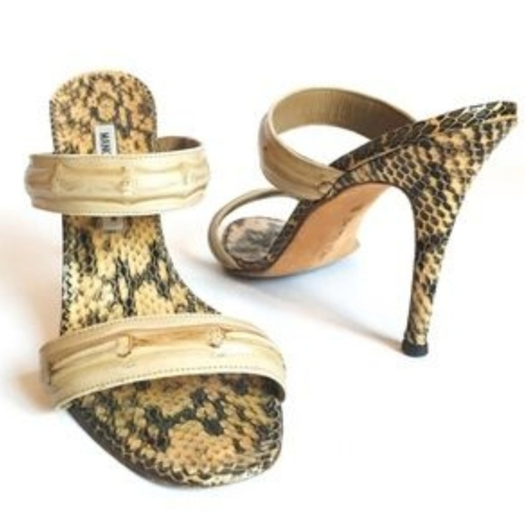 52a74957f Manolo Blahnik snakeskin and bamboo sandals. M 5b772b7a6a0bb715ea77bd83